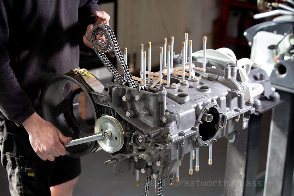 Engine rebuild in progress